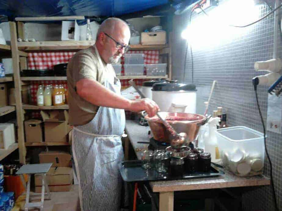 production artisanale de confitures