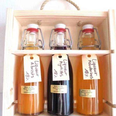 liqueur et eau-de-vie artisanale coffret
