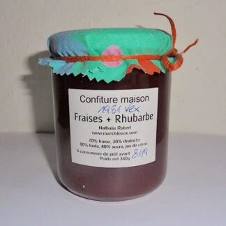 mazot de vex confiture fraise rhubarbe