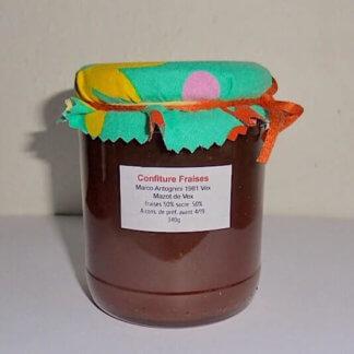 mazot de vex confiture fraise artisanale