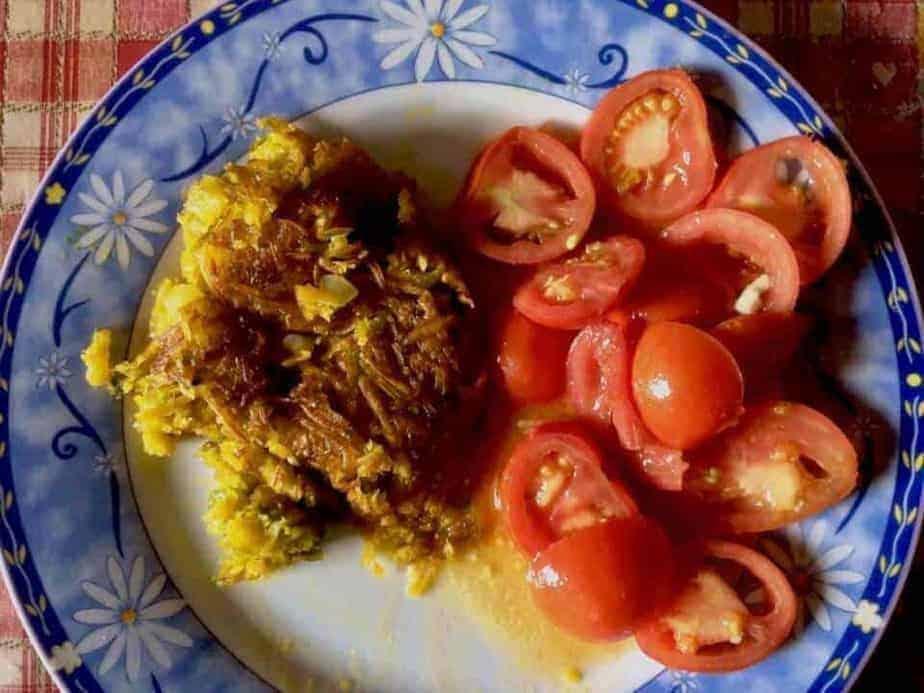 Mazot De Vex Recette Roesti Potimarron Et Salade Tomates Du Jardin